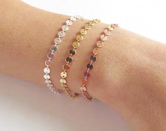 Circles Bracelet - Gold Bracelets - Silver Bracelets - Layering Bracelets - Chain Bracelets