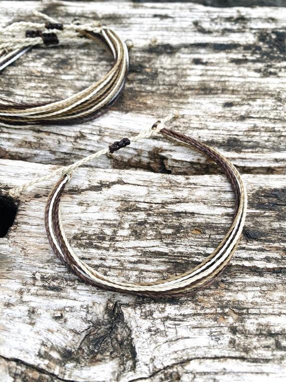 Beige String Bracelet Friendship Beige Bracelet Stackable Adjustable Bracelet Beige Bracelet Beige Bracelet Simple Beige Bracelet