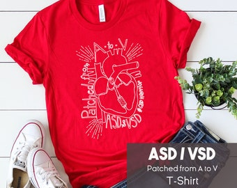 photograph relating to Vsd 190 Printable named CHD Warrior Blouse TOF Transfer with the Fallot Congenital Middle Etsy