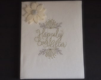 Wedding Memory Album Ivory Aster Choose Flower Color