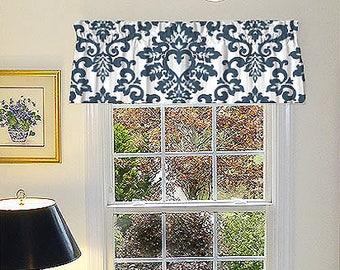 Traitement de fenêtre plat Valence Rideau plat plat Valence   Etsy