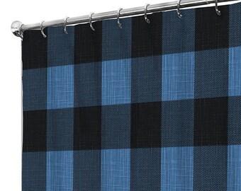 Shower Curtain Extra Long Fabric Curtains Rustic Farmhouse Bathroom