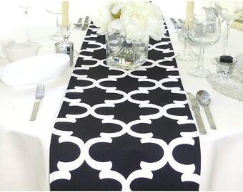 Choose your Table Runner, Black Table Runner - Black Wedding Linens - Black Table Topper - Fynn Black Table Runner