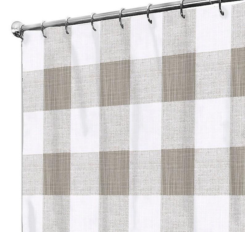 Shower Curtain Fabric Buffalo Check