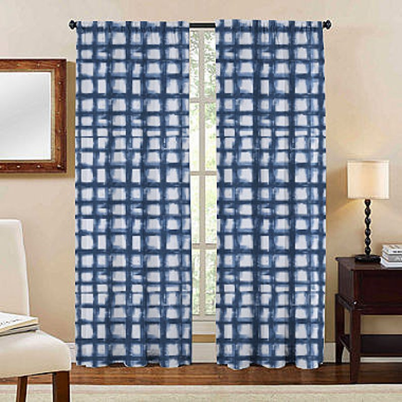 Kitchen Curtains, Kitchen Valance, Blue Curtains, Curtain Panels, Kitchen  Decor, Custom Curtains, Window Treatments, Cafe French Curtains,