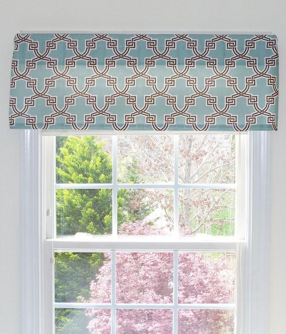 Traitement de fenêtre plat Valence Rideau plat plat Valence | Etsy
