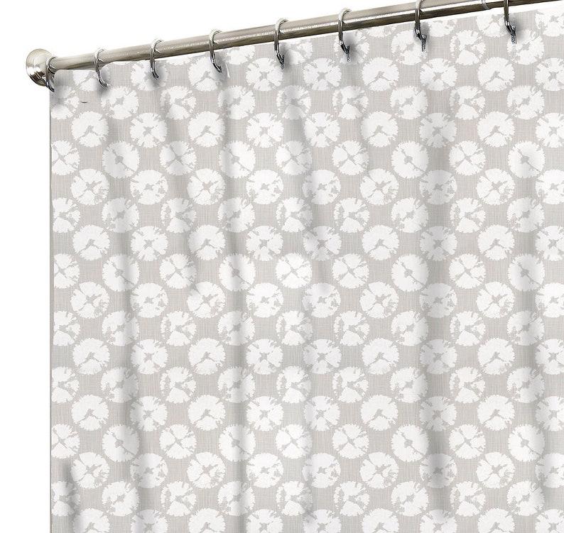 Sand Dollar Shower Curtain Neutral Colors Beach Bathroom