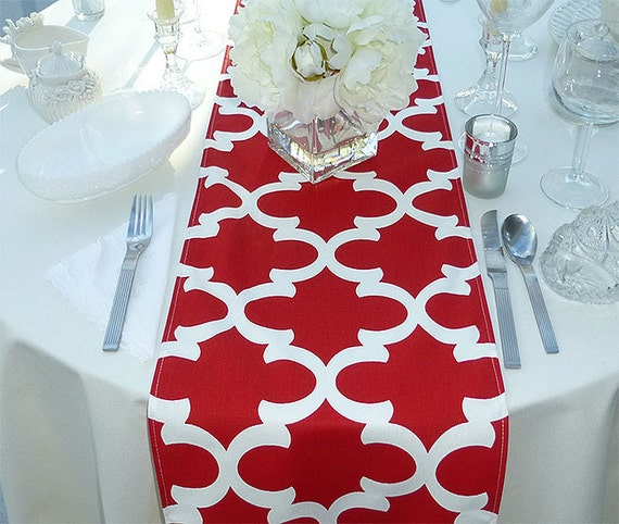 Delicieux Red And White Table Runner   Fynn Red   All Sizes   Table Linens  Home  Decor  Dinner Party, Holiday, Wedding  Linens