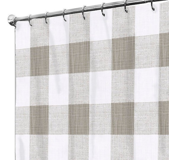 Shower Curtain Fabric Buffalo Check