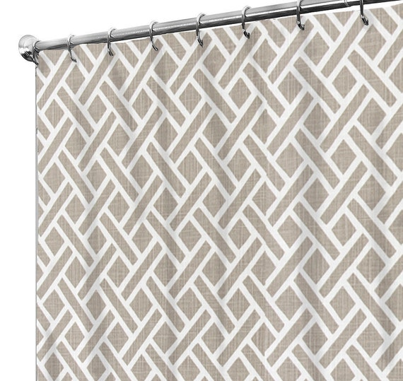 Shower Curtain Squares Country Rustic