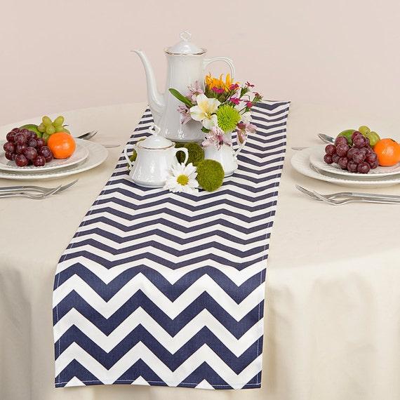 Blue Wedding Table Runner Wedding Table Runner Wedding Table Decor Table Runner Chevron Navy Blue Table Runner