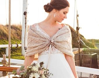 Bridal Cape, Winter Wedding Shawl, Ivory Shawl, Crochet Shawl, Bridal Wrap, Bridal Shrug, Bridal Shawl,Wedding Bolero,Romantic Wedding Shawl