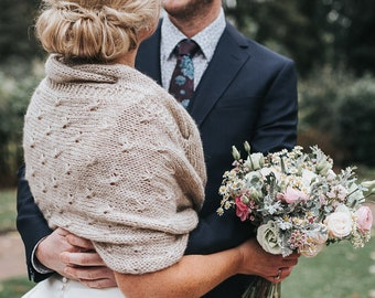 Bridal Shawl, Bridal Shrug, Wedding Shawl, Wraps and Shawls,Winter Wedding Wrap,Bridal Bolero,Hand Knitted Shawl ,Bridal Cover Up