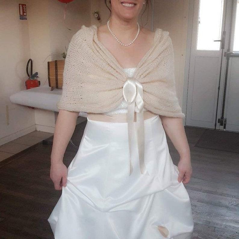 ae1852e5c0 Champagne Bridal Shawl Wedding Wrap Bridal Cover Up Wedding