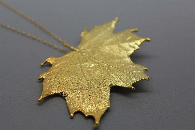 Gold Maple Leaf Necklace/Pin image 0