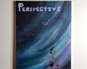 "16x20 Acrylic Painting ""Perspective: Blue Dot"""