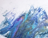 DIGITAL Print of Abstract Acrylic Pour Painting