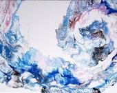 DIGITAL Print Acrylic Pour Wave Swirl Ocean Design