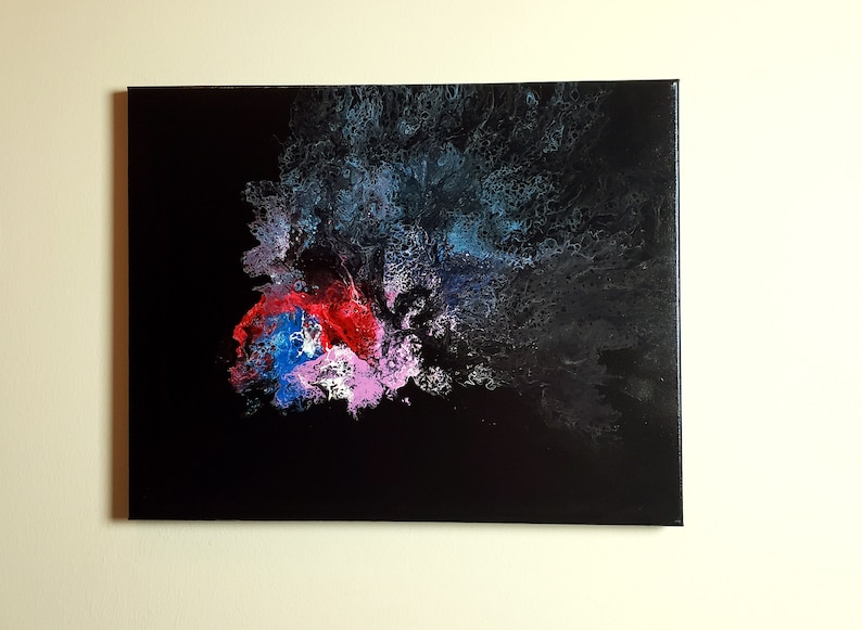 Abstract Acrylic Pour Painting Reverse Betta image 0
