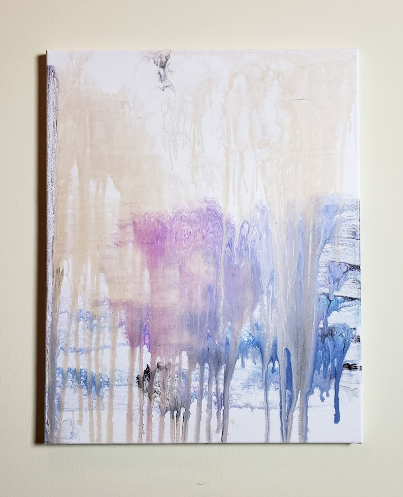 Abstract Acrylic Pour Drip Painting image 0