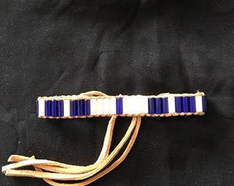 Glass Wampun Bracelet