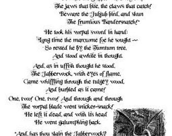 what type of poem is jabberwocky