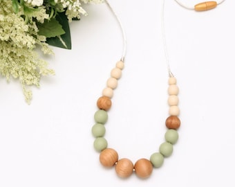 Silicone Teething Necklace   Chewelry   Breastfeeding Necklace for Mom   Baby Shower Gift   Teething Necklace   Baby Chew Necklace   ISLA