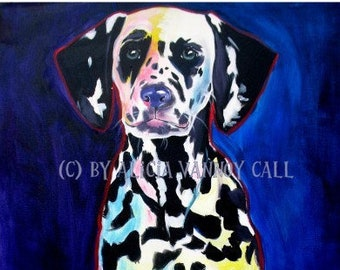 Dalmatian, Pet Portrait, DawgArt, Dog Art, Pet Portrait Artist, Colorful Pet Portrait, Dalmatian Art, Pet Portrait Painting, Art Prints