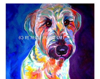 Briard, Pet Portrait, DawgArt, Dog Art, Pet Portrait Artist, Colorful Pet Portrait, Briard Art, Pet Portrait Painting, Art Prints
