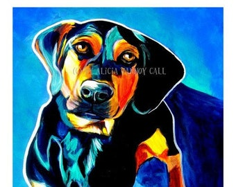 Doxle, Pet Portrait, DawgArt, Dog Art, Pet Portrait Artist, Colorful Pet Portrait, Doxle Art, Pet Portrait Painting, Art Prints