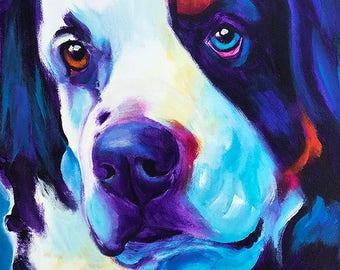 Bernese Mountain Dog, Pet Portrait, DawgArt, Dog Art, Pet Portrait Artist, Colorful Pet Portrait, Bernese Mountain Dog Art, Art Prints
