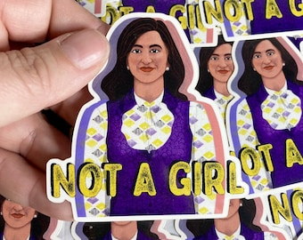 3 Pack of Not A Girl Nonbinary Vinyl Stickers or Mix & Match