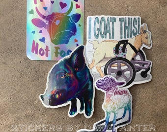 4 Pack of Black Goat Sanctuary Vinyl Stickers