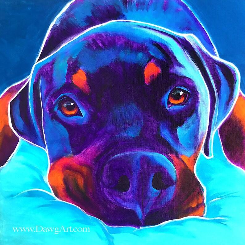7831c99ce08 Rottweiler Pet Portrait DawgArt Dog Art Pet Portrait