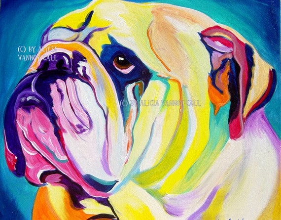 Dog Art Colorful Pet Portrait Pet Portrait Pet Portrait Painting DawgArt Art Prints Pet Portrait Artist Weimaraner Art Weimaraner