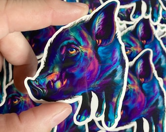 3 Pack of Doug the Pig Vinyl Stickers or Mix & Match