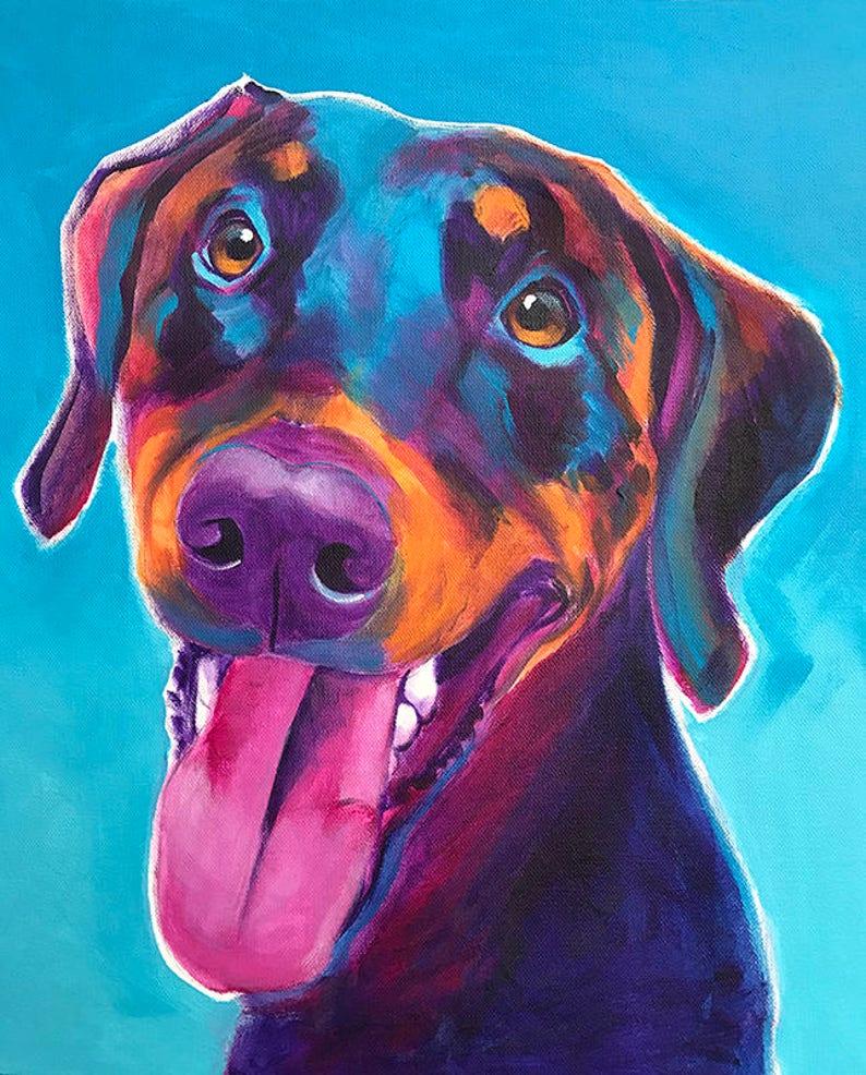 58c1da17a4d Doberman Pet Portrait DawgArt Dog Art Pet Portrait Artist