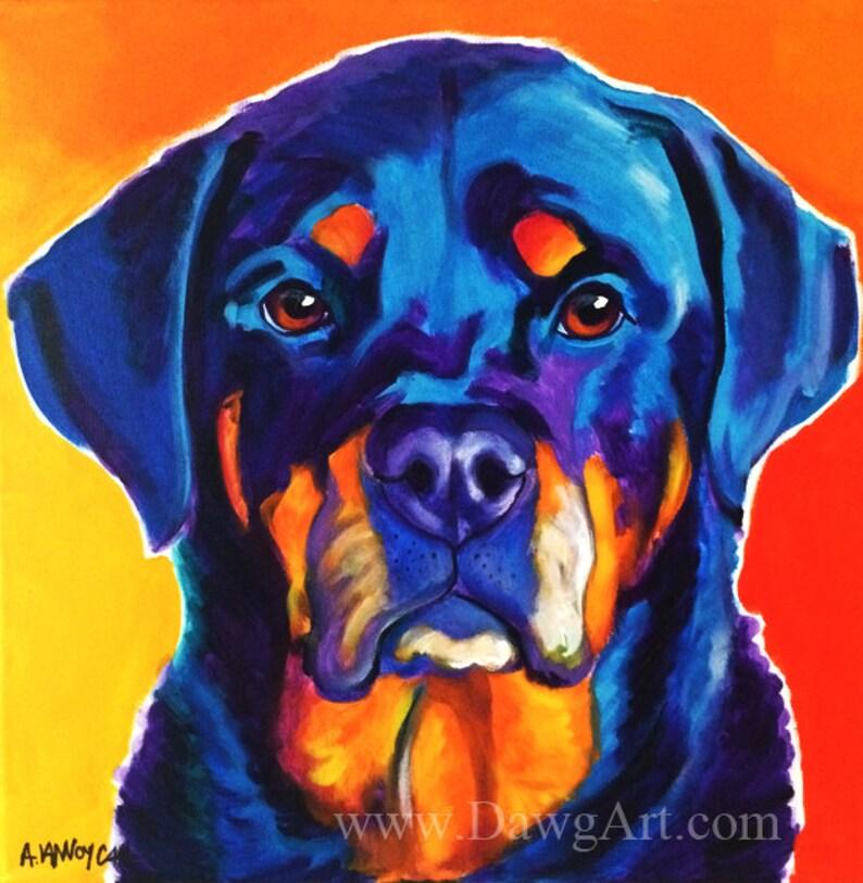 5cde7bf47ef Rottweiler Pet Portrait DawgArt Dog Art Rottweiler Art