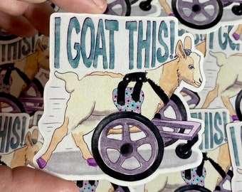 3 Pack of Goat on Wheels Vinyl Stickers or Mix & Match