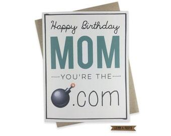 Mom Birthday Card Happy Funny For Moms Emoji Bomb Dot Com From Kids Children Gift