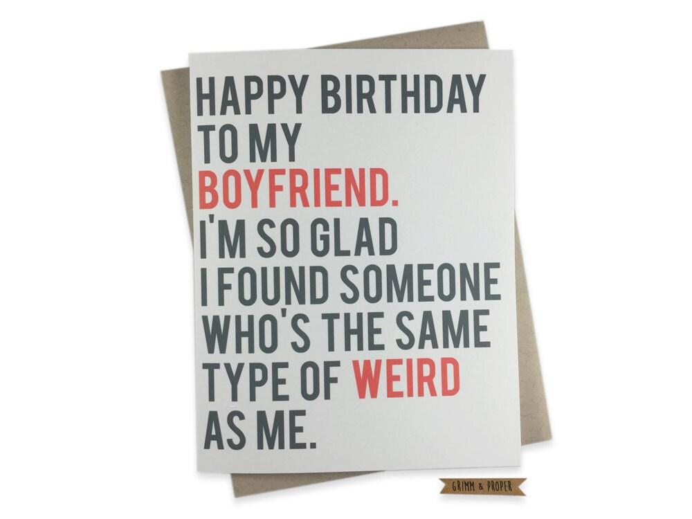 Funny Boyfriend Birthday Card Boyfriend's Birthday | Etsy
