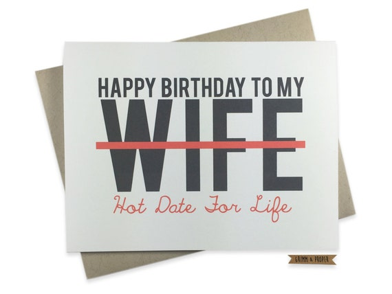 Wife Birthday Card Funny Love For Her Sexy Wife Date Etsy