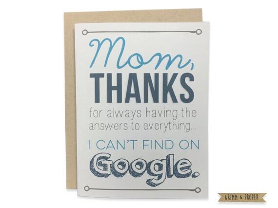 Mom Birthday Card Funny Mothers Day Card Happy Etsy