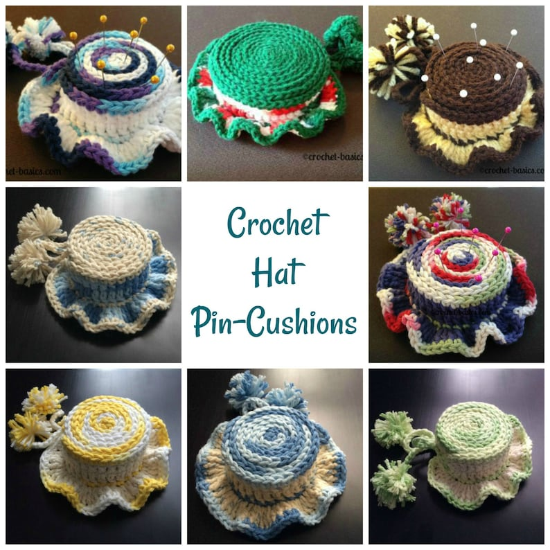 Crochet Hat Pin Cushion Pattern image 0