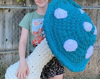 Giant Crochet Mushroom Pattern