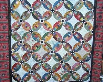 PDF of Faux Wedding Ring quilt pattern