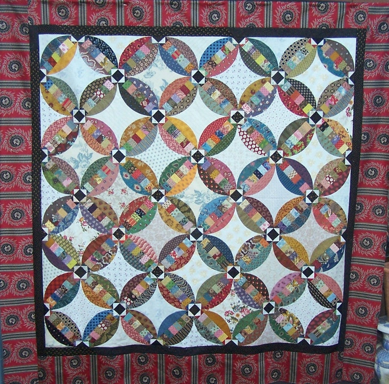 Wedding Ring Quilt Pattern.Faux Wedding Ring Quilt Pattern