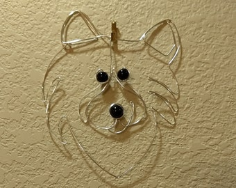 Wire Wrapped American Eskimo, Samoyed or Other Dog Wall Hanging MADE to ORDER