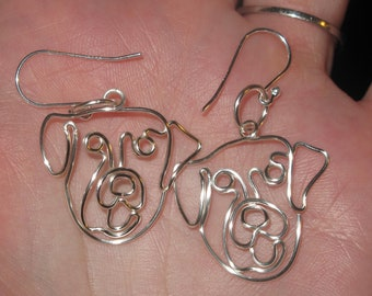 Wire Wrapped Retriever or Other Dog Earrings MADE to ORDER