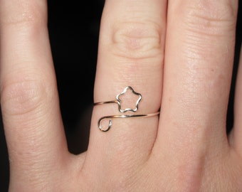 Wire Wrapped Star MADE to ORDER Ring Adjustable